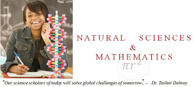 Department of Natural Science and Math Banner2