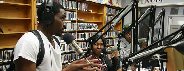 Students broadcasting