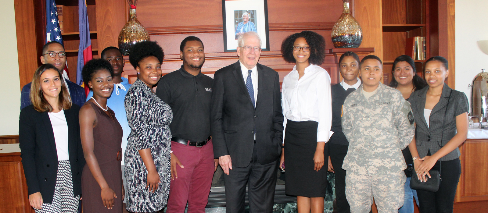 Congressman David Price with Shaw University Students