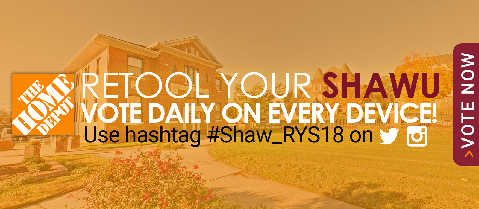 Retool Your ShawU. Vote Daily on Every Device. Use #Shaw_RYS18