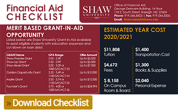 Download Financial Aid Checklist graphic