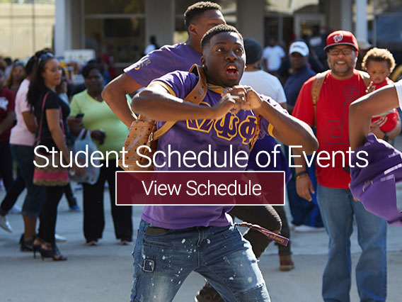 Student Schedule of Events